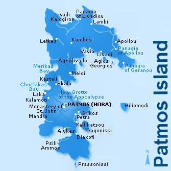 Patmos Island Map And Greece And Greek Islands Map
